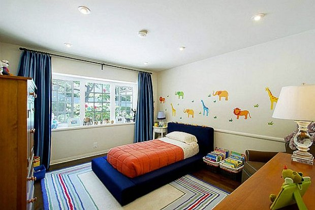 Фотография: Детская в стиле Современный, Дом, Дома и квартиры, Интерьеры звезд – фото на INMYROOM