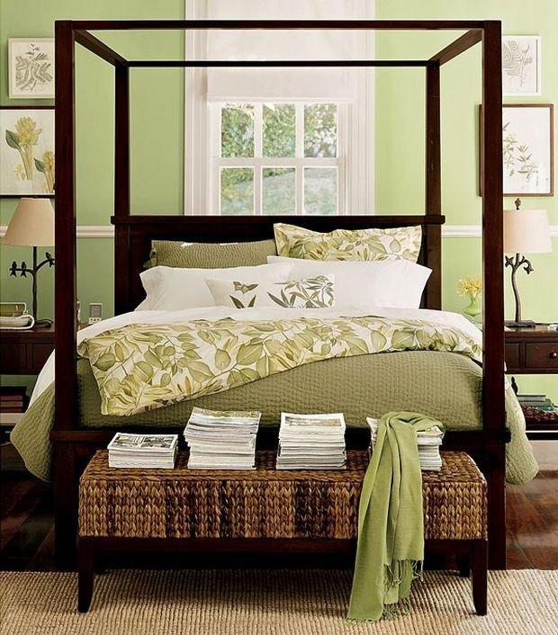 Фотография: Терраса в стиле Прованс и Кантри, Спальня, Декор интерьера, Квартира, Дом, Декор, Зеленый – фото на INMYROOM