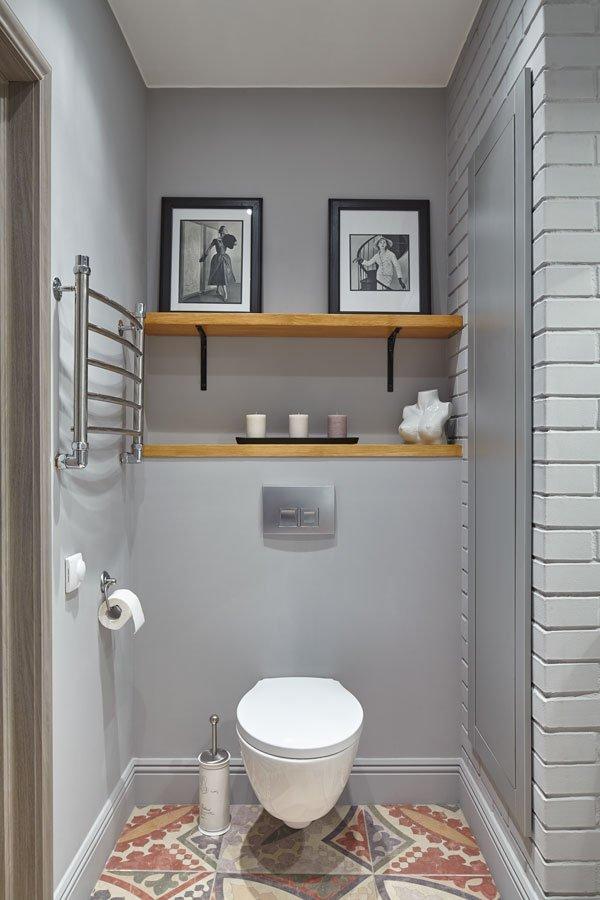 Фотография: Ванная в стиле Скандинавский, Современный, Квартира, Мебель и свет, Белый, Минимализм, Серый – фото на INMYROOM