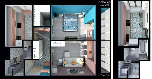 Фотография: Спальня в стиле Эклектика, Квартира, Планировки, Перепланировка, перепланировка двухкомнатной квартиры, двушка, ЖК ART, ИП-46с, перепланировка двушки, идеи для двухкомнатной квартиры, П-3/16, II-18/9, И-522А, II-02, II-68-03, И-1724, Сталинка, Панельный дом, Хрущевка, Кирпичный дом, Монолитный дом, Блочный дом – фото на INMYROOM