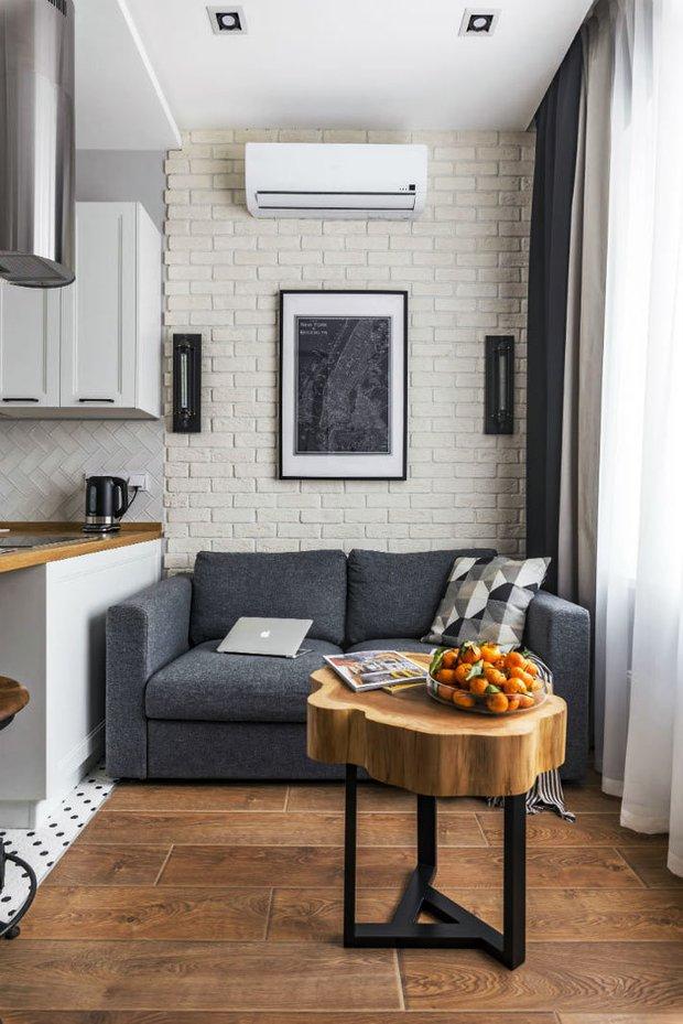 Фотография: Гостиная в стиле Скандинавский, Классический, Лофт, Декор интерьера, Студия, Планировки, Белый, Черный, до 40 метров – фото на INMYROOM