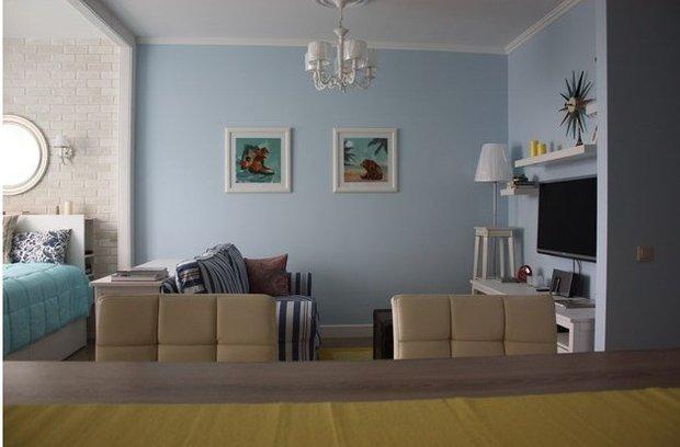 Фотография: Гостиная в стиле , Малогабаритная квартира, Квартира, Дома и квартиры, Мебель-трансформер – фото на INMYROOM