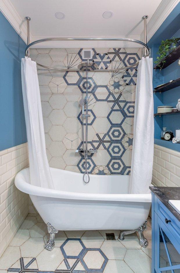 Фотография: Ванная в стиле Прованс и Кантри, Советы, Гид, отделка стен в ванной, интересная плитка в ванной, плитка в ванной – фото на INMYROOM
