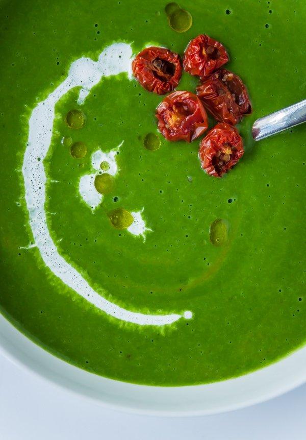 Фотография:  в стиле , Обед, Первое блюдо, Здоровое питание, Суп, Кулинарные рецепты, Варить, 45 минут, Европейская кухня, Просто, Шпинат, Горох – фото на INMYROOM