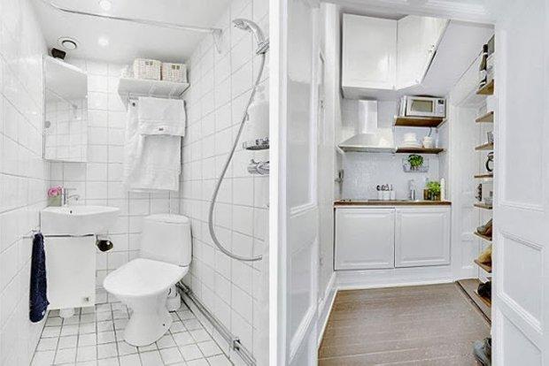 Фотография: Прочее в стиле , Скандинавский, Малогабаритная квартира, Квартира, Цвет в интерьере, Дома и квартиры, Белый – фото на INMYROOM