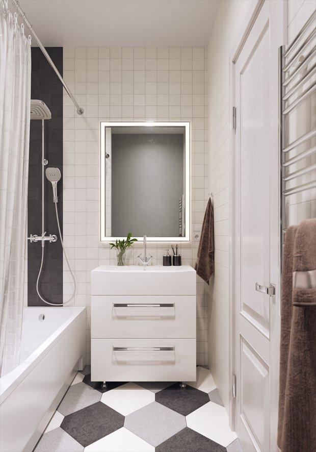 Фотография: Ванная в стиле Современный, Ремонт на практике, ОБИ – фото на INMYROOM