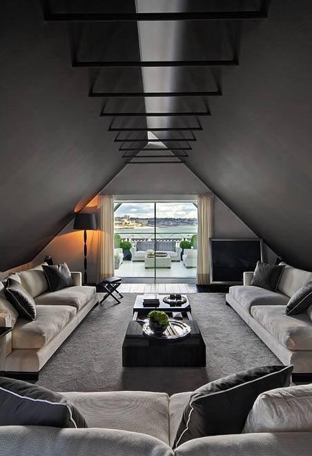 Фотография: Гостиная в стиле Современный, Чердак, Мансарда – фото на INMYROOM