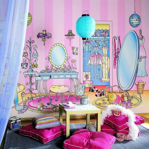 Фотография: Детская в стиле Современный, Эклектика, Декор интерьера, Дизайн интерьера, Мебель и свет, Цвет в интерьере, Стены, Розовый, Фуксия – фото на INMYROOM