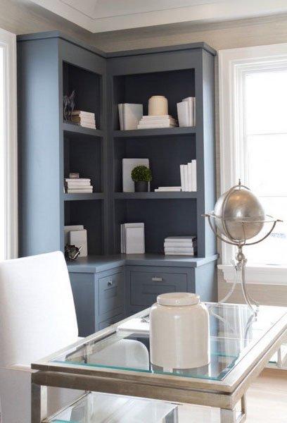 Фотография: Кабинет в стиле Прованс и Кантри, Декор интерьера, Мебель и свет, Советы, Белый, как оформить пустой угол, пустой угол в квартире – фото на INMYROOM
