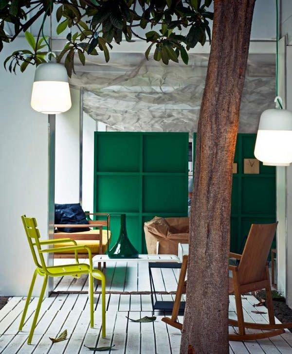 Фотография: Гостиная в стиле Эклектика, Декор интерьера, Мебель и свет, Перегородки – фото на INMYROOM