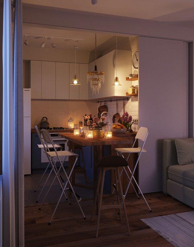 Фотография:  в стиле , Кухня и столовая, Советы, маленькая кухня, GeekBrains, как сделать кухню удобной, факультет дизайна, факультет дизайна жилых интерьеров – фото на INMYROOM