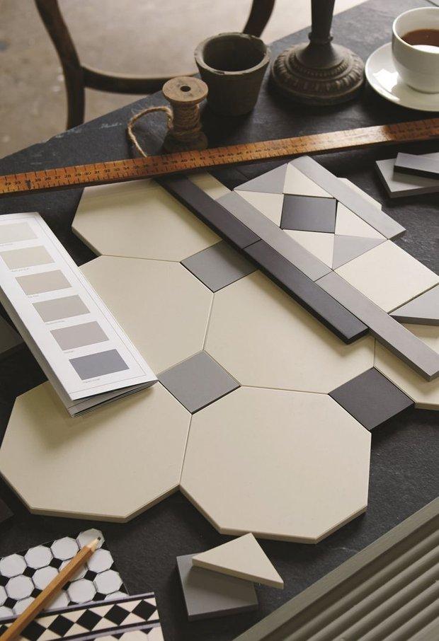 Фотография:  в стиле , Ремонт на практике, метлахскай плитка в интерьере – фото на InMyRoom.ru