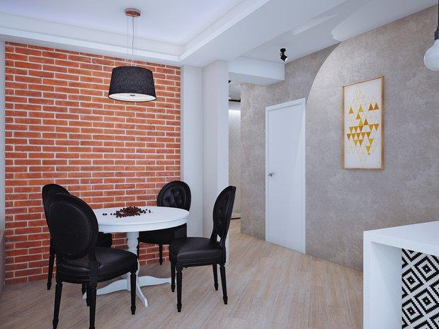 Фотография: Кухня и столовая в стиле Лофт, Современный, Классический, Квартира, Планировки, Мебель и свет, Проект недели – фото на INMYROOM