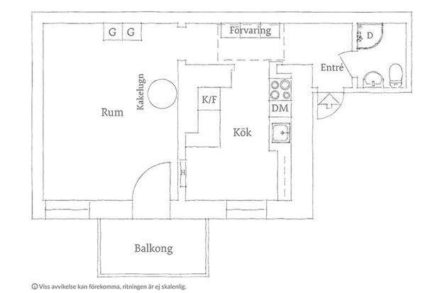 Фотография: Планировки в стиле , Лофт, Современный, Эклектика, Декор интерьера, Квартира, Швеция, Декор, Мебель и свет, Белый, Минимализм, Гетеборг, 1 комната, до 40 метров, Эмма Фишер – фото на INMYROOM