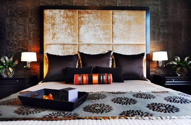 Фотография: Спальня в стиле Современный, Восточный, Эклектика, Интерьер комнат – фото на INMYROOM