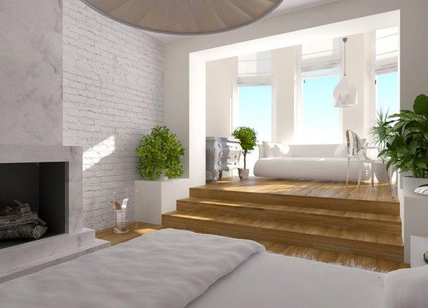 Фотография: Гостиная в стиле Современный, Декор интерьера, Квартира, Мебель и свет, Подиум – фото на INMYROOM