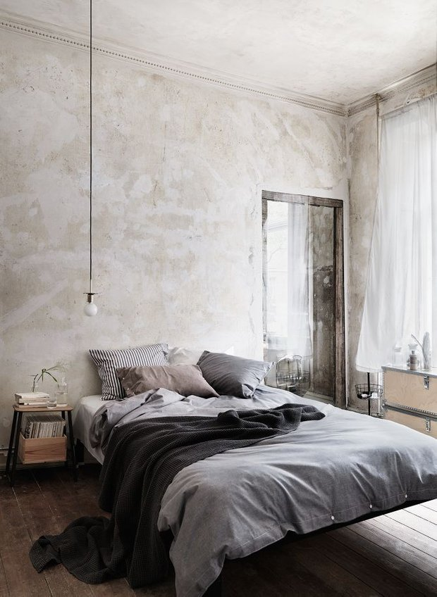 Фотография: Спальня в стиле Лофт, Интерьер комнат, Хрущевка – фото на InMyRoom.ru