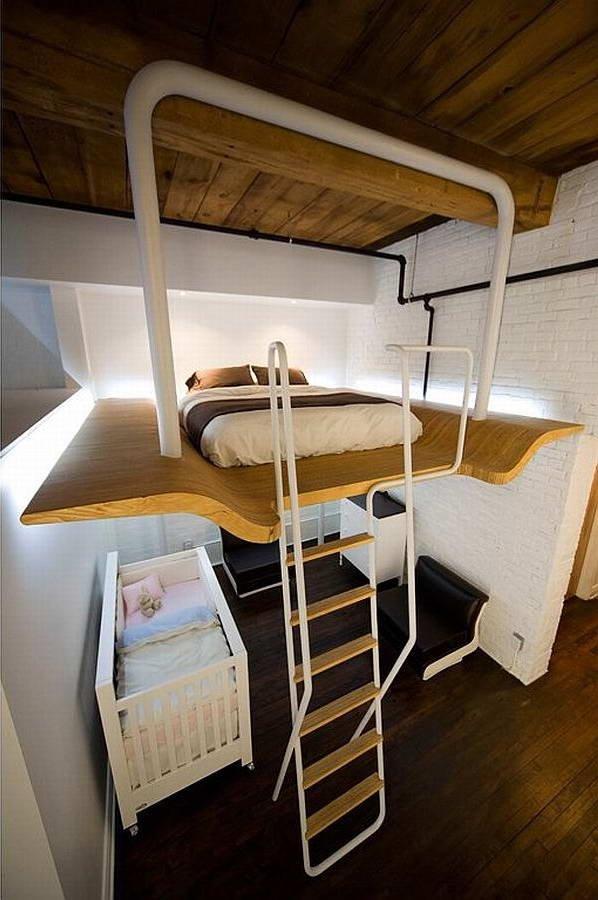 Фотография: Спальня в стиле Современный, Малогабаритная квартира, Квартира, Дома и квартиры – фото на INMYROOM