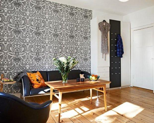 Фотография: Гостиная в стиле Скандинавский, Малогабаритная квартира, Квартира, Цвет в интерьере, Дома и квартиры, Белый, Стена, Пол – фото на INMYROOM