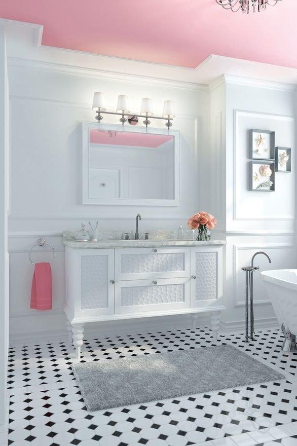Фотография: Ванная в стиле Прованс и Кантри, Советы, Ремонт, Потолок, Ремонт на практике – фото на INMYROOM