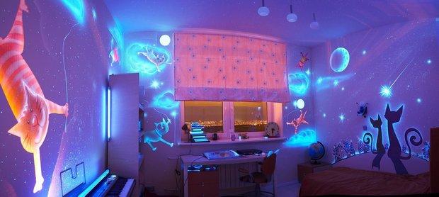 Фотография: Детская в стиле Современный, Интерьер комнат, Роспись – фото на INMYROOM