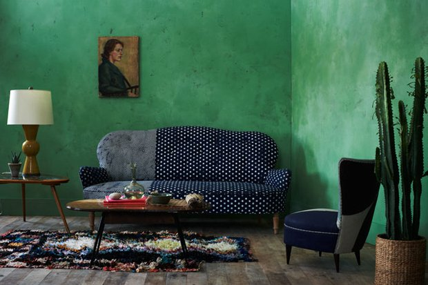 Фотография: Гостиная в стиле , Декор интерьера, Дизайн интерьера, Цвет в интерьере, Краска – фото на INMYROOM