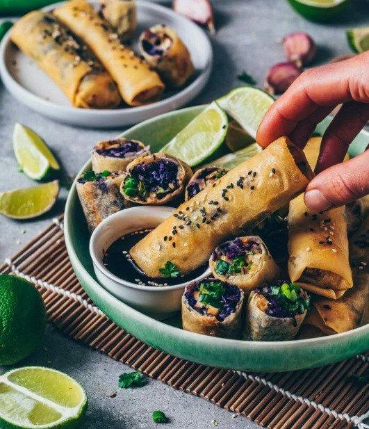 Фотография:  в стиле , Закуска, Вегетарианская, Веганская, Закуски, Кулинарные рецепты, Капуста, 45 минут, Азиатская кухня, Просто, Морковь, Тофу, Запекание – фото на INMYROOM