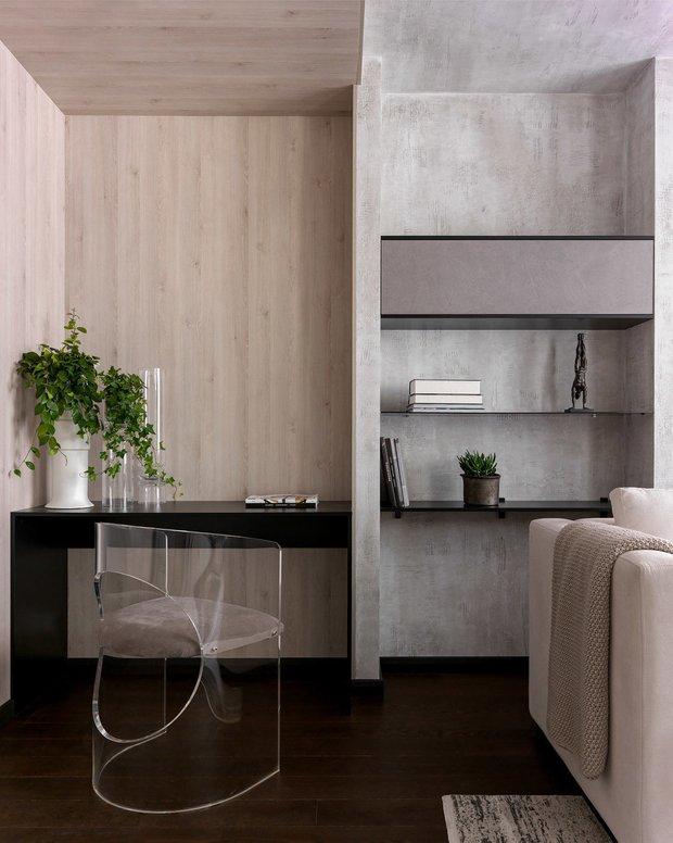 Фотография:  в стиле , Декор интерьера, Декоративная штукатурка, декор стен, Loggia, микроцемент – фото на INMYROOM