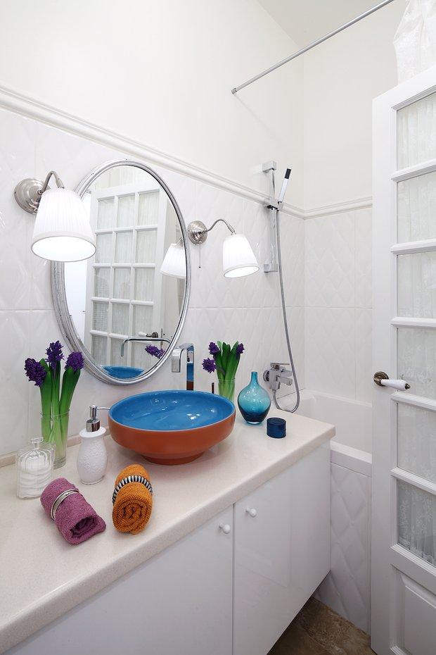 Фотография: Ванная в стиле Современный, Малогабаритная квартира, Квартира, Дома и квартиры, IKEA, Проект недели, Галина Юрьева – фото на INMYROOM