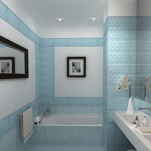 Фотография: Ванная в стиле Современный, Обои, Переделка, Плитка, Краска, Стеновые панели – фото на INMYROOM