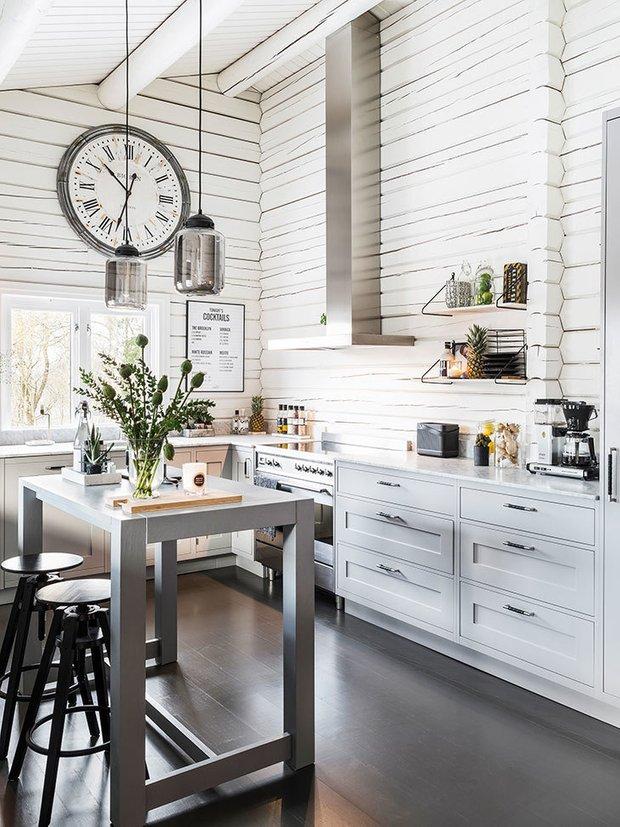 Фотография: Кухня и столовая в стиле Скандинавский, Дача, Дом и дача – фото на INMYROOM