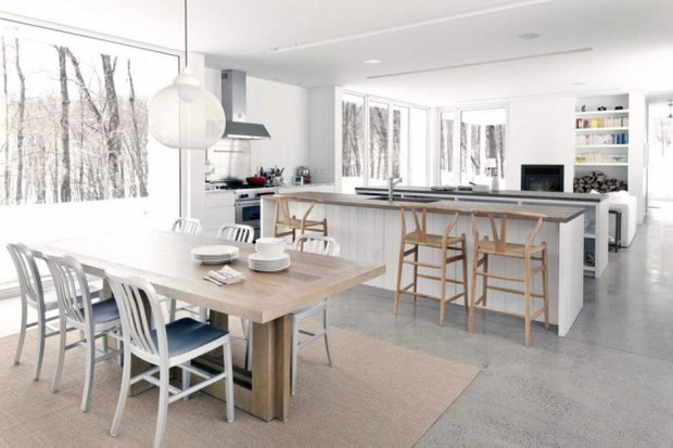 Фотография: Кухня и столовая в стиле Скандинавский, Декор интерьера, Мебель и свет, Дача – фото на InMyRoom.ru