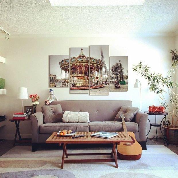 Фотография: Гостиная в стиле Минимализм, Кухня и столовая, Спальня, Декор интерьера, Квартира, Дом – фото на INMYROOM