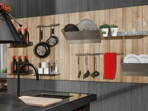 Фотография: Кухня и столовая в стиле Лофт, Квартира, Советы, Уютная квартира, кухня в хрущевке, как обустроить кухню в хрущевке, малометражная кухня, зонирование кухни в хрущевке, Хрущевка – фото на INMYROOM
