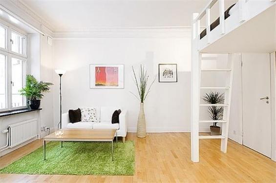 Фотография: Гостиная в стиле Скандинавский, Квартира, Цвет в интерьере, Дома и квартиры, Белый – фото на INMYROOM