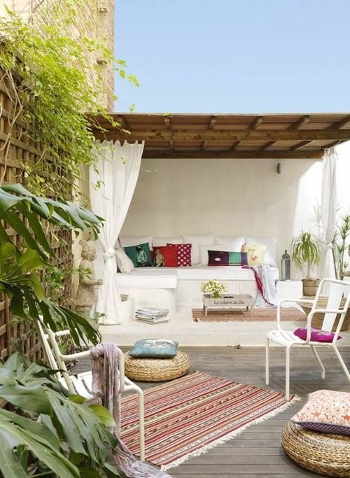 Фотография: Балкон, Терраса в стиле , Декор интерьера, Текстиль, Советы, Шторы, Балдахин – фото на INMYROOM