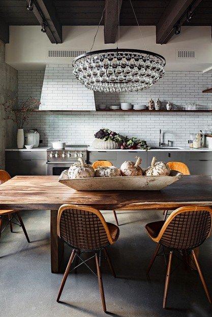 Фотография: Кухня и столовая в стиле Лофт, Декор интерьера, Квартира, Дома и квартиры, Нью-Йорк – фото на INMYROOM