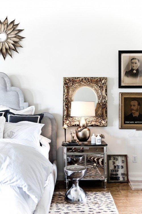 Фотография: Спальня в стиле Эклектика, Декор интерьера, Декор дома, Зеркала – фото на INMYROOM