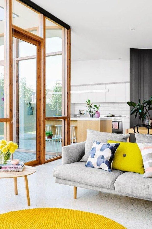 Фотография: Гостиная в стиле Современный, Эко, Скандинавский, Декор интерьера, Дизайн интерьера, Цвет в интерьере – фото на INMYROOM