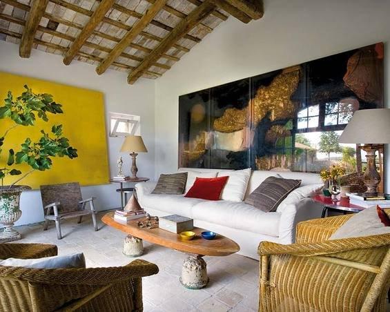 Фотография: Гостиная в стиле Прованс и Кантри, Дом, Испания, Дома и квартиры, Современное искусство – фото на INMYROOM