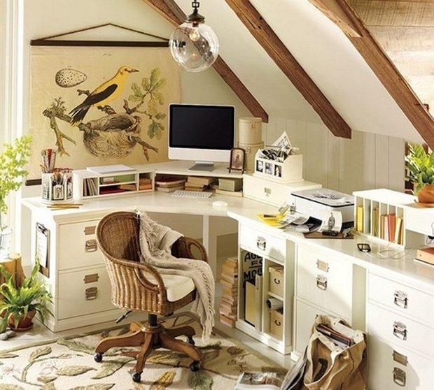 Фотография: Офис в стиле Прованс и Кантри, Дом, Чердак, Мансарда – фото на INMYROOM