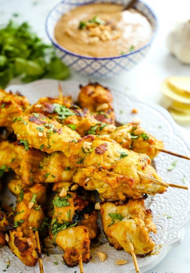 Фотография:  в стиле , Закуска, Основное блюдо, Гриль, Жарить, Кулинарные рецепты, 30 минут, Азиатская кухня, Просто, Курица – фото на INMYROOM