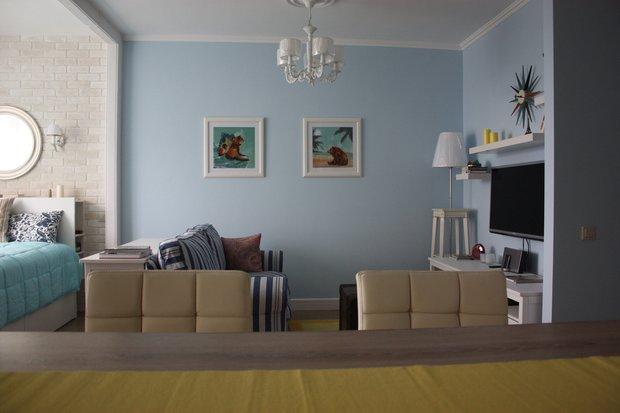 Фотография: Гостиная в стиле Современный, Малогабаритная квартира, Квартира, Дома и квартиры, Ремонт – фото на INMYROOM