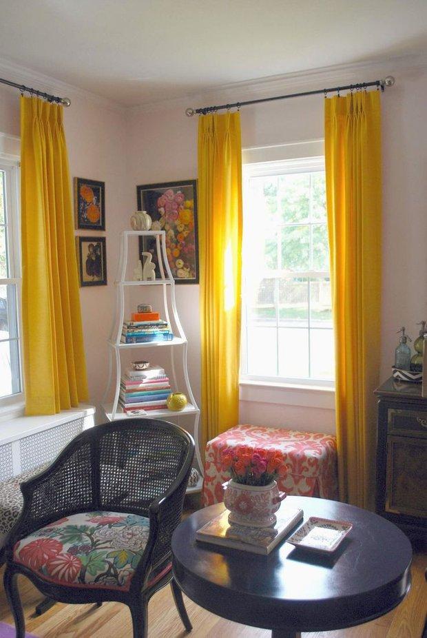 Фотография: Гостиная в стиле Прованс и Кантри, Декор интерьера, Дизайн интерьера, Цвет в интерьере, Желтый – фото на INMYROOM