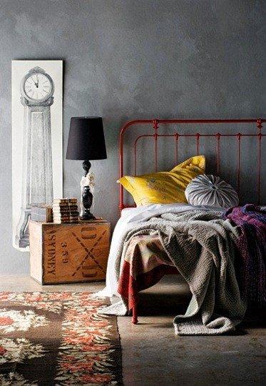 Фотография: Спальня в стиле Лофт, Декор интерьера, Дизайн интерьера, Цвет в интерьере, Желтый – фото на InMyRoom.ru