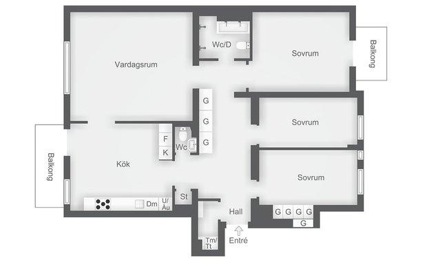 Фотография: Планировки в стиле , Классический, Современный, Декор интерьера, Квартира, 4 и больше, Более 90 метров – фото на InMyRoom.ru