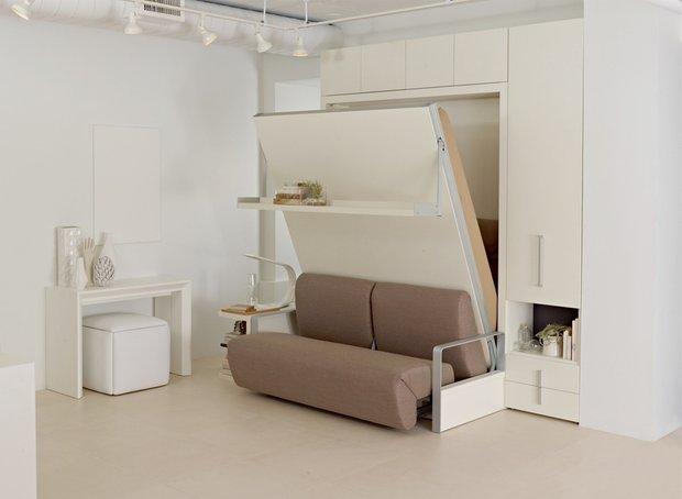 Фотография: Прихожая в стиле Современный, Советы, Бежевый, Серый, Мебель-трансформер, кровать-трансформер, диван-кровать – фото на INMYROOM