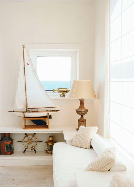 Фотография: Гостиная в стиле Прованс и Кантри, Декор интерьера, Дизайн интерьера, Декор, Цвет в интерьере, Морской – фото на INMYROOM