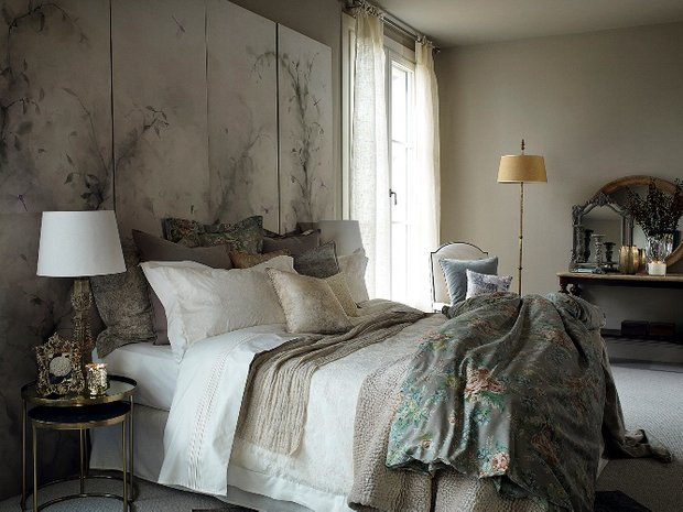 Фотография: Спальня в стиле Прованс и Кантри, Декор интерьера, Квартира, Дом, Декор дома, Текстиль, Zara Home – фото на INMYROOM