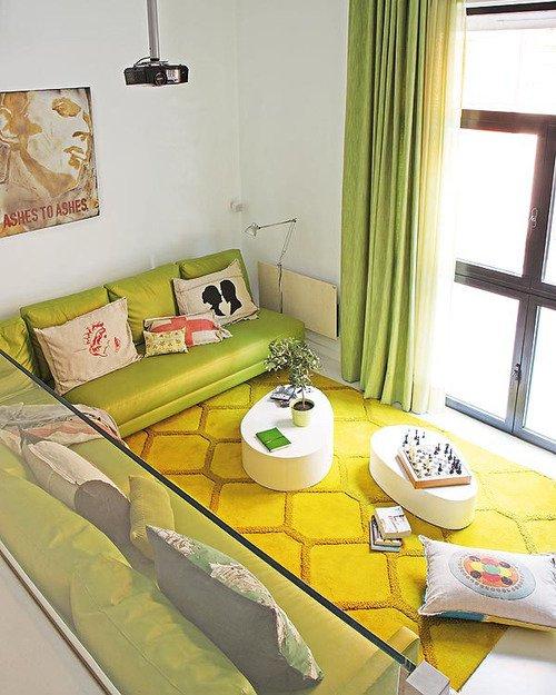 Фотография: Гостиная в стиле Минимализм, Лофт, Декор интерьера, Квартира, Цвет в интерьере, Дома и квартиры, Белый, Барселона – фото на INMYROOM